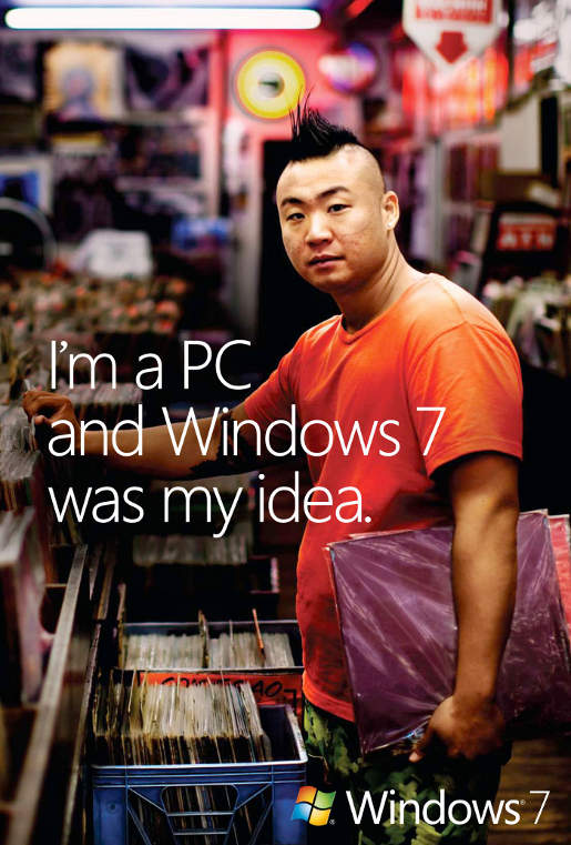 Windows 7 was My Idea print advertisement