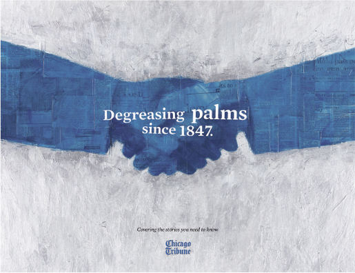 Chicago Tribune Degreasing Palms ad
