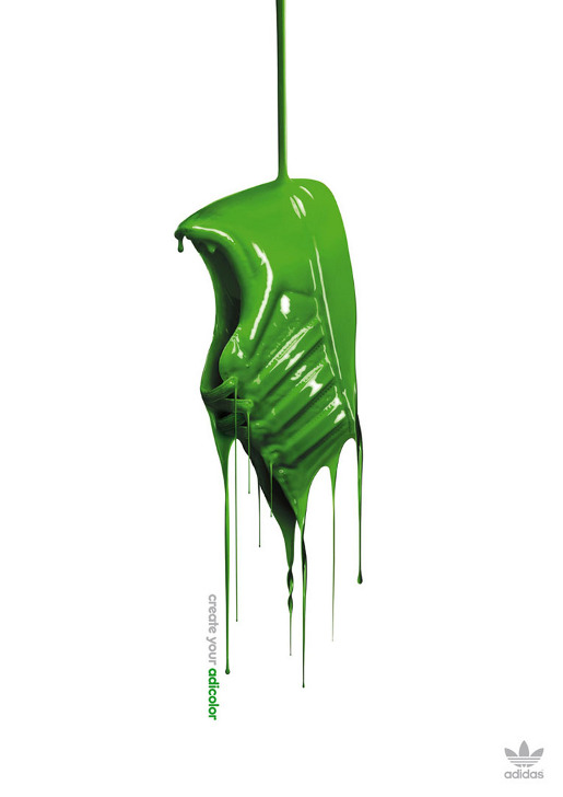 Adidas Green Adicolor print advertisement