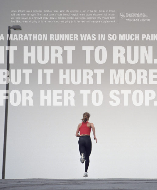 Marathon Runner with Pain