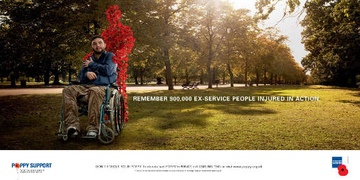 Poppy Man in Poppy Day advertisement