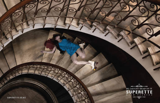Superette Stairs print advertisement