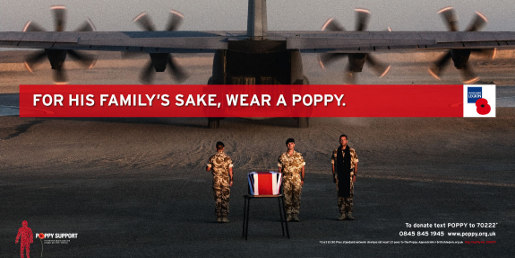 Wear a Poppy print advertisement