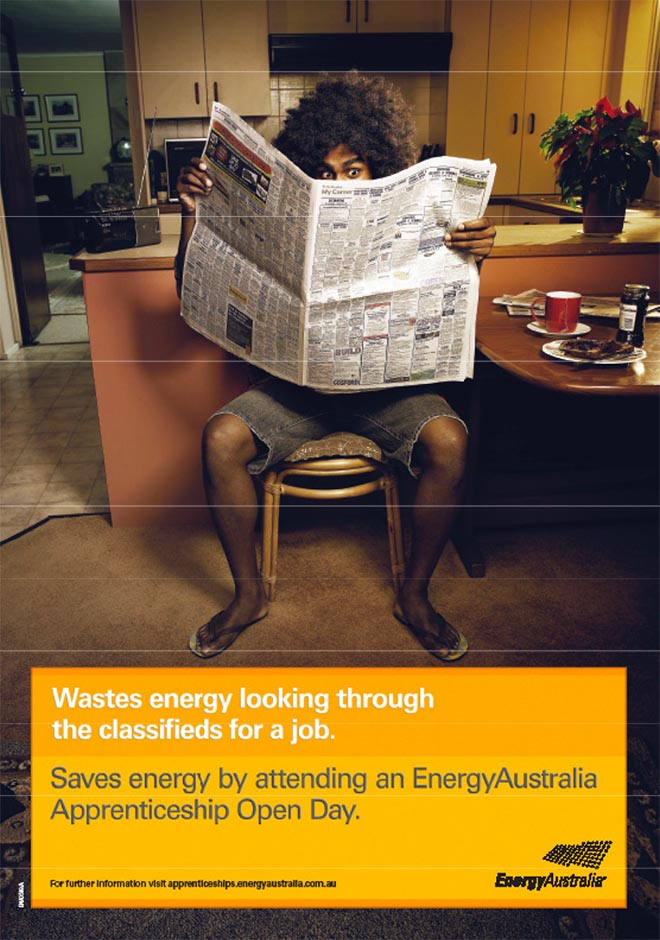 Energy Australia Classifieds Wastes Energy ad