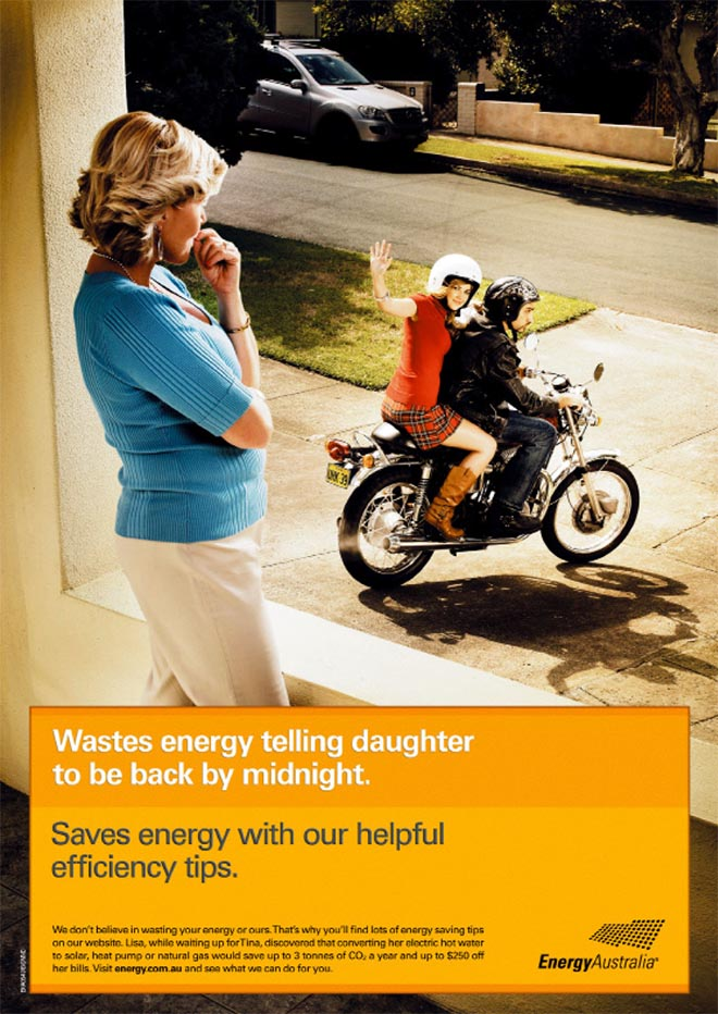 Energy Australia Daughter Wastes Energy ad