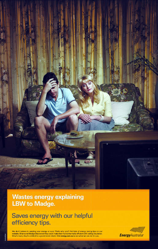 Energy Australia LBW Wastes Energy ad