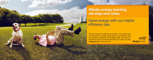 Energy Australia New Dog Wastes Energy ad
