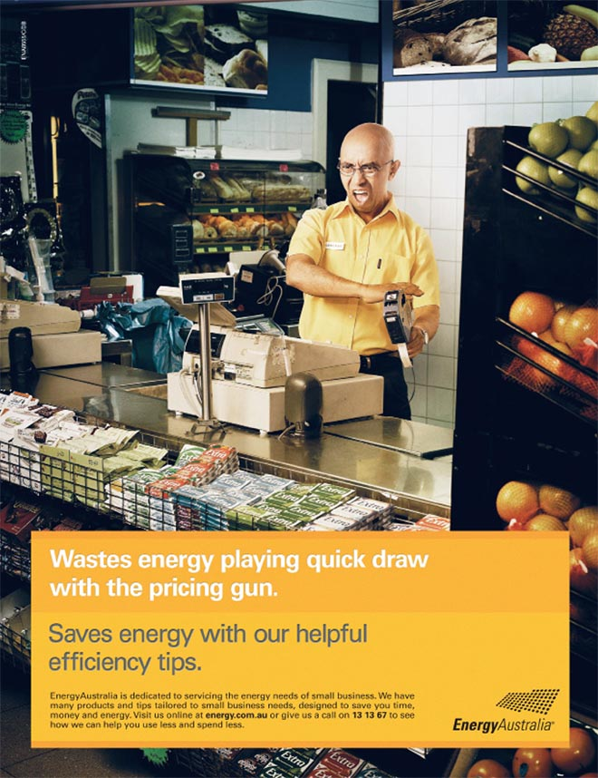 Energy Australia Pricing Gun Wastes Energy ad