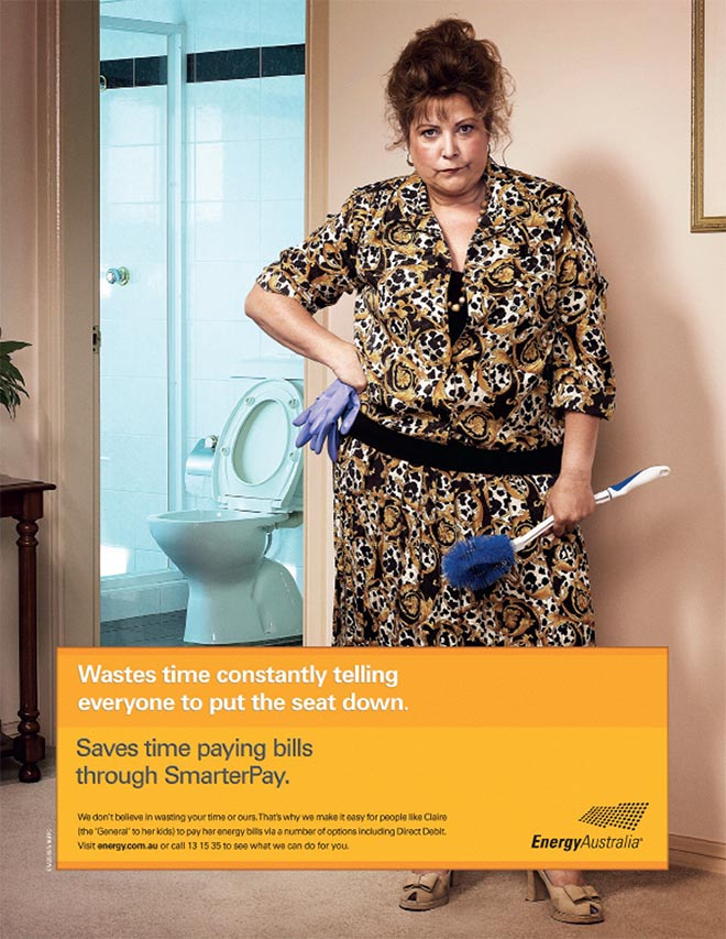 Energy Australia Toilet Wastes Energy ad