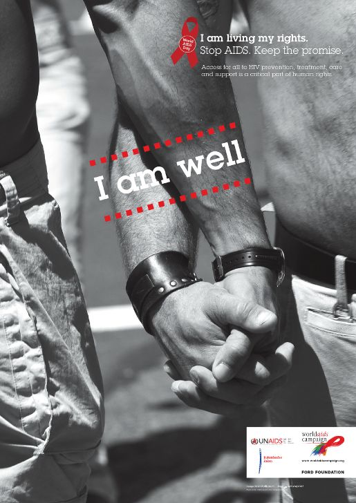 I Am Well - World AIDS Campaign poster