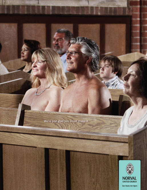 Norval United Church nudists