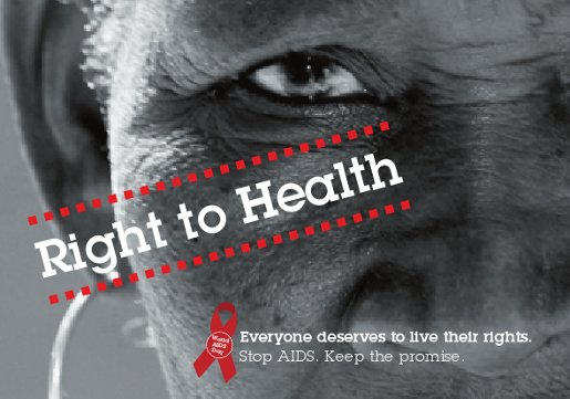 World AIDS Campaign postcard