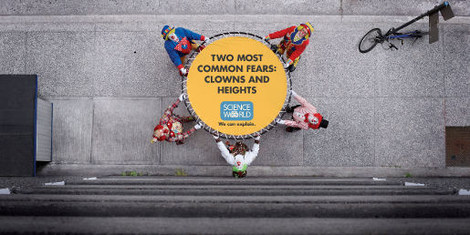Science World Clown Jumping print advertisement