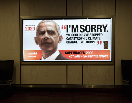Greenpeace Obama says Sorry
