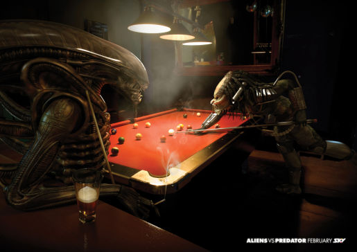 Aliens vs Predator Pool Game