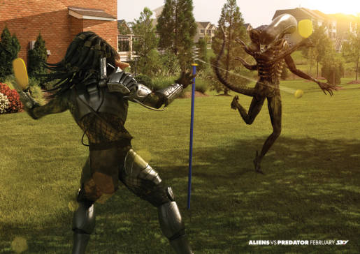 Aliens vs Predator Swingball Game