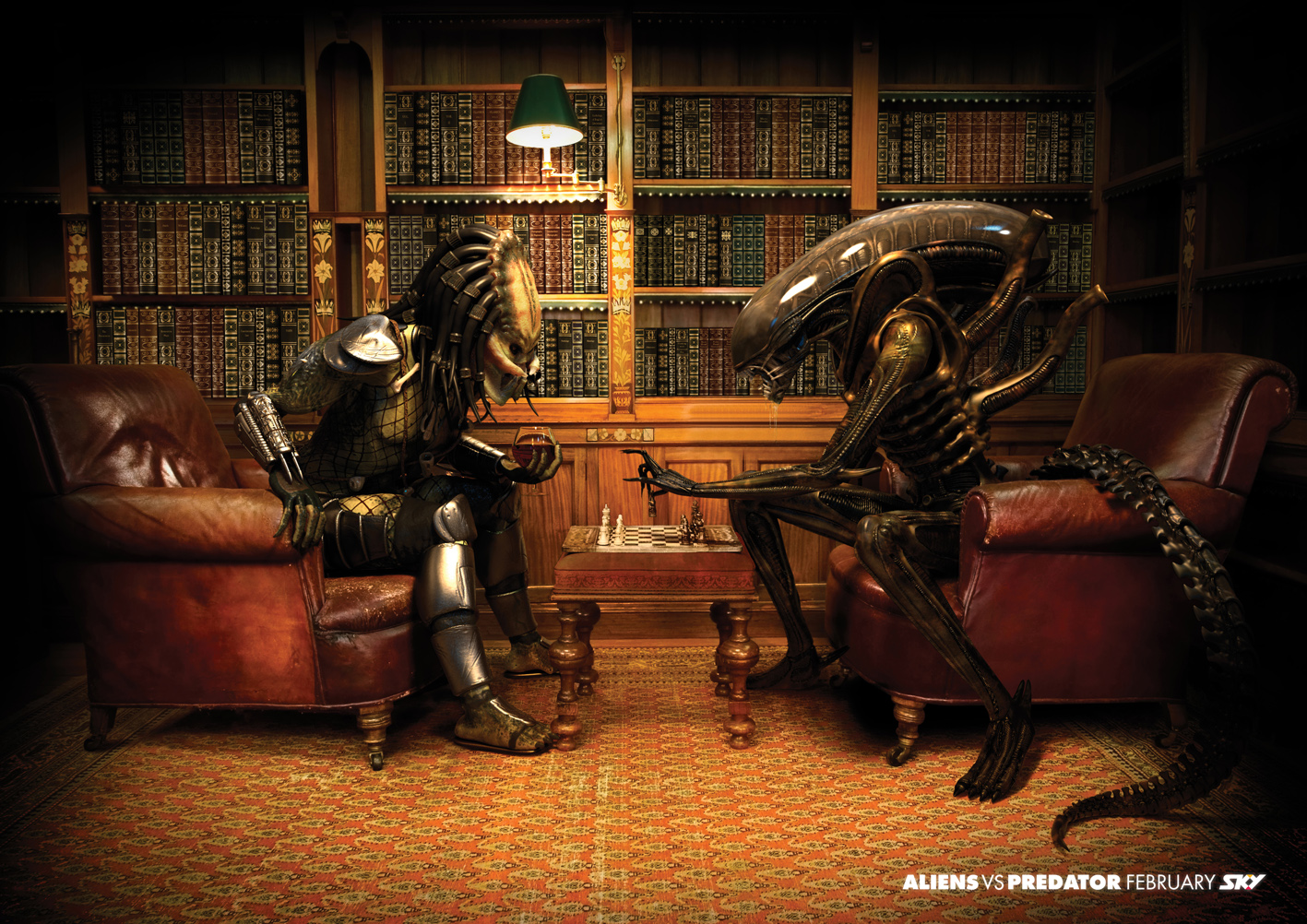 SKY Television is promoting its screening of Aliens Vs Predator in New ...