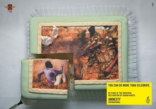 Amnesty International 60th Birthday cake