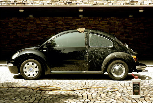 Amway Shine Like New Volkswagen Beetle print advertisement
