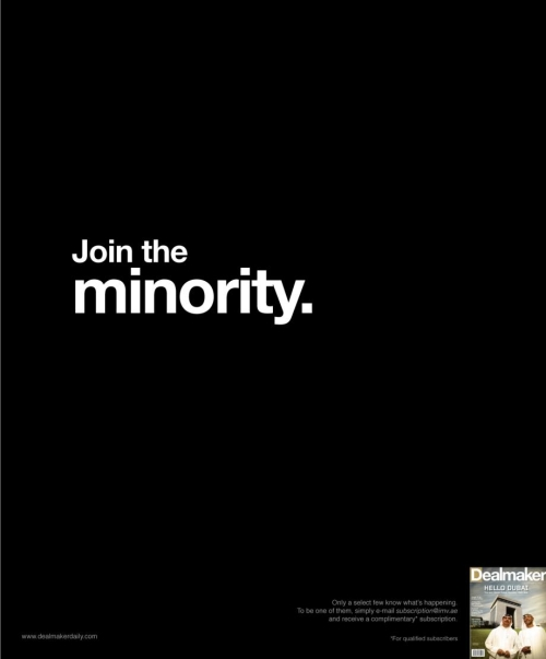 Join the Minority