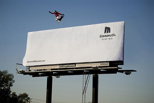 Skier in Mammoth Mountain print advertisement