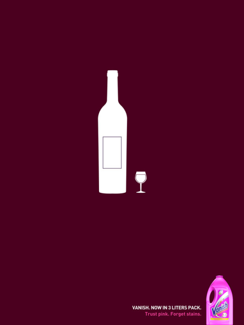 Vanish Wine print advertisement