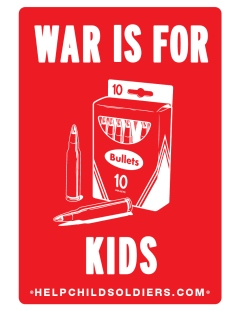 War Child Canada War is for kids poster