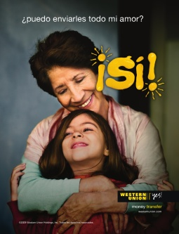 Western Union Yes print advertisement