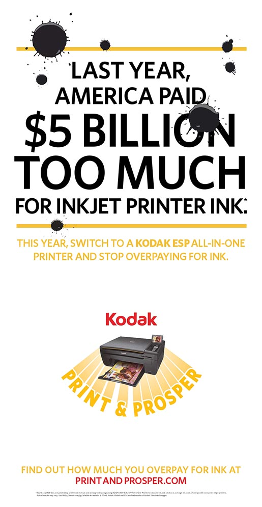 5 Billion Too Much in Kodak print advertising campaign