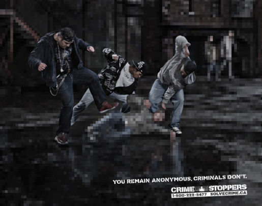 Crimestoppers Gang Violence print advertisement