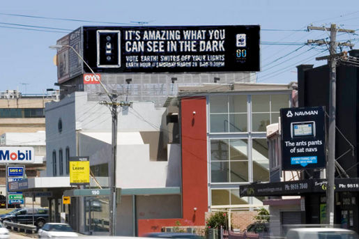 Earth Hour Glow in the Dark billboard