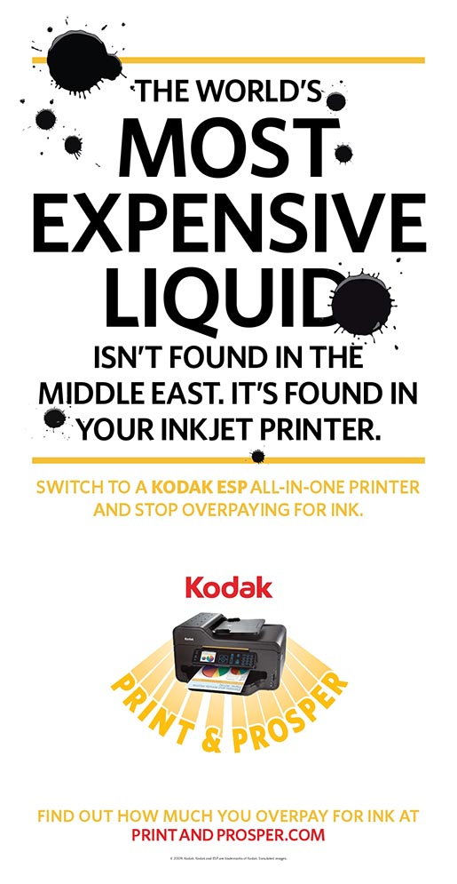 5 Billion Stain in Kodak print advertising campaign