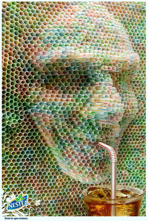 Nestle Straws print advertisement Eres lo que tomas