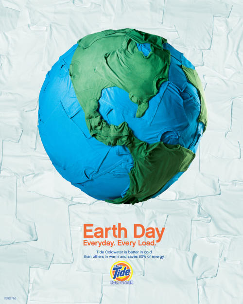 Tide Earth Day print advertisement