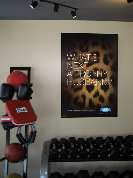 Trophy Husband Poster for Fitness Together