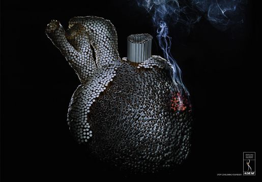ADESF Smoking Heart print advertisement