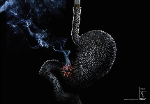 ADESF Smoking Stomach print advertisement