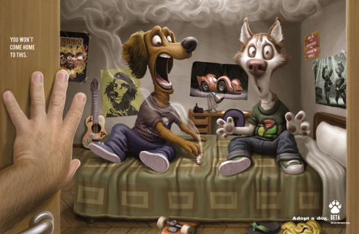 Beta Adopt a Dog ad - Smoking