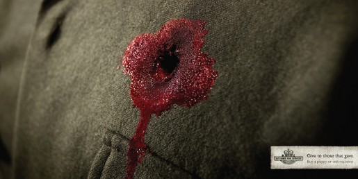 RSA Anzac Day Poppy Wound print advertisement