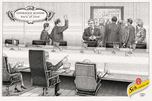 Schweppes G20 Summit print advertisement
