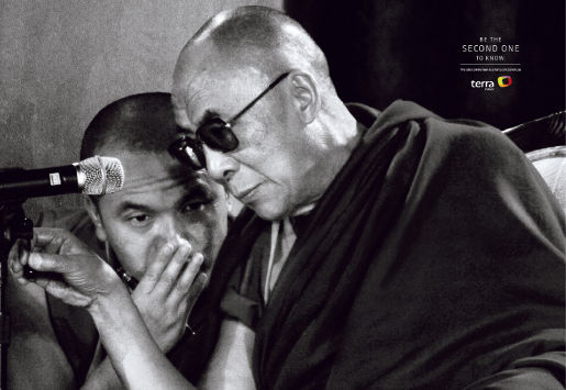 The Dalai Lama in Terra print advertisement