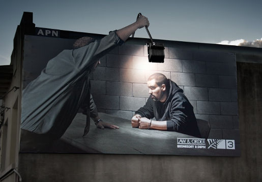 TV3 Law and Order billboard