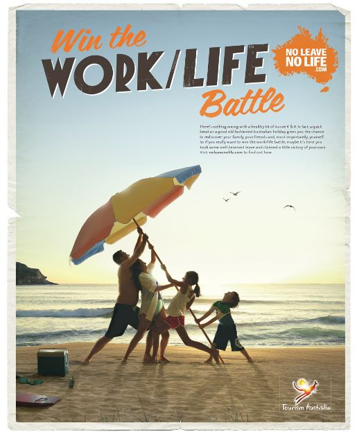 Win the Work/Life Battle in Tourism Australia campaign