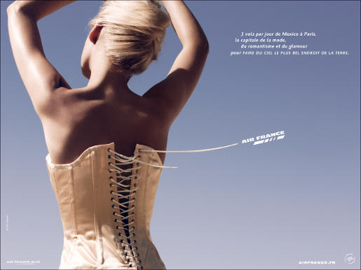 Air France Corset print advertisement