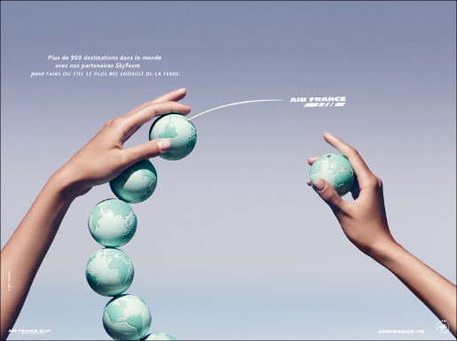 Air France Hands print advertisement
