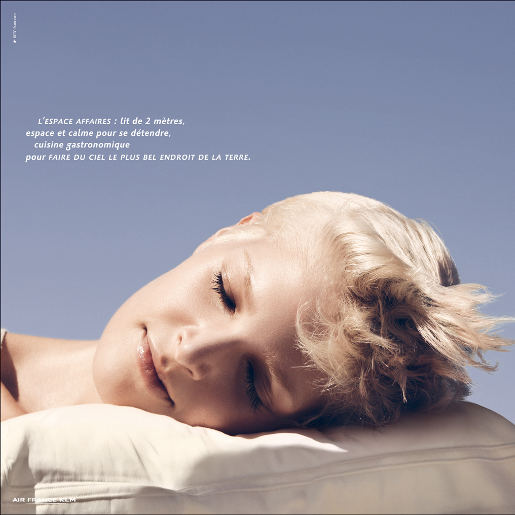 Air France Pillow print advertisement