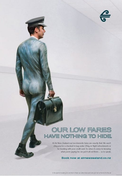Air New Zealand Nothing To Hide print advertisement