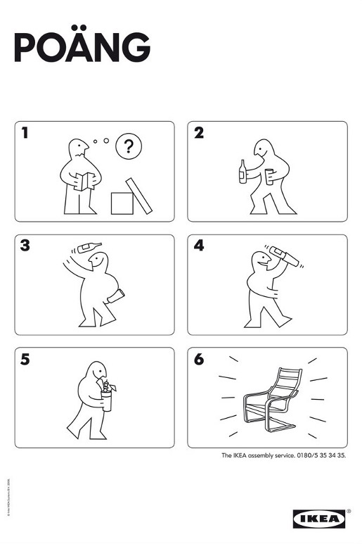 IKEA Poang Assembly Service diagram