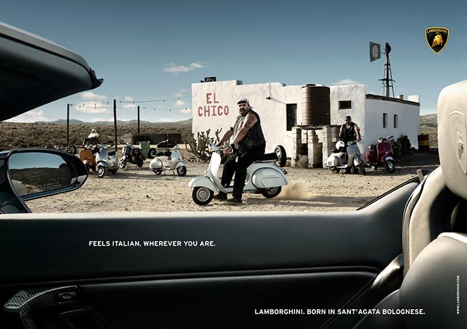 Lamborghini Mexico Scooter print advertisement