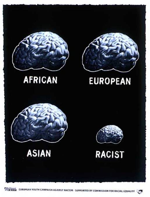 Racist Brain print advertisement